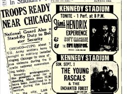 Kennedy Stadium Hosts the Jimi Hendrix Experience