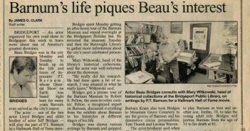 OCTOBER 14, 1988: Beau Bridges Visits the Bridgeport History Center