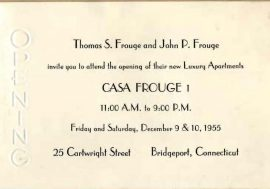 "Casa Frouge, ""Bridgeport's First Luxury Apartment Building"""