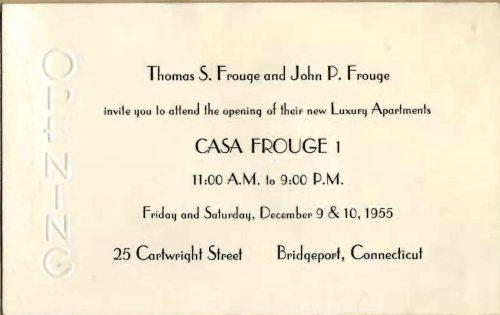 """Casa Frouge, """"Bridgeport's First Luxury Apartment Building"""""""