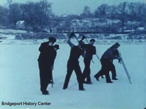 Ice Cutting on Bunnell's Pond, Beardsley Park, 1932-1939