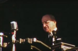 Adlai Stevenson and Harry Truman in Bridgeport, 1952