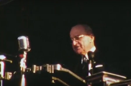 Adlai Stevenson and Harry Truman in Bridgeport, 1952