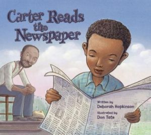 Carter reads the newspaper