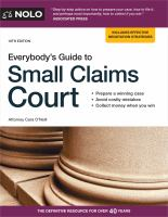 Everybody's Guide to Small Claims Court.