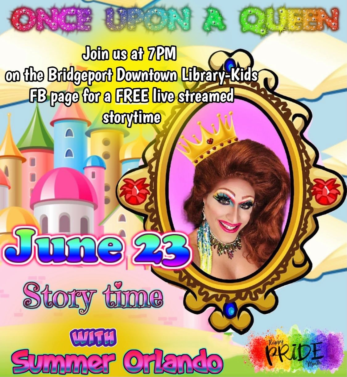 Pride Storytime with Summer Orlando Live on Facebook
