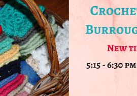 Crochet Club at Burroughs-Saden