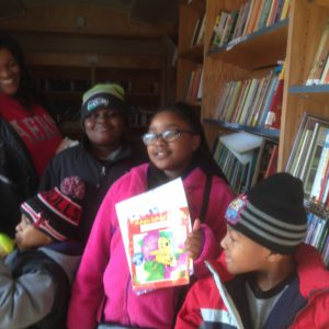 BPL Bookmobile at the Cathedral of the Holy Spirit